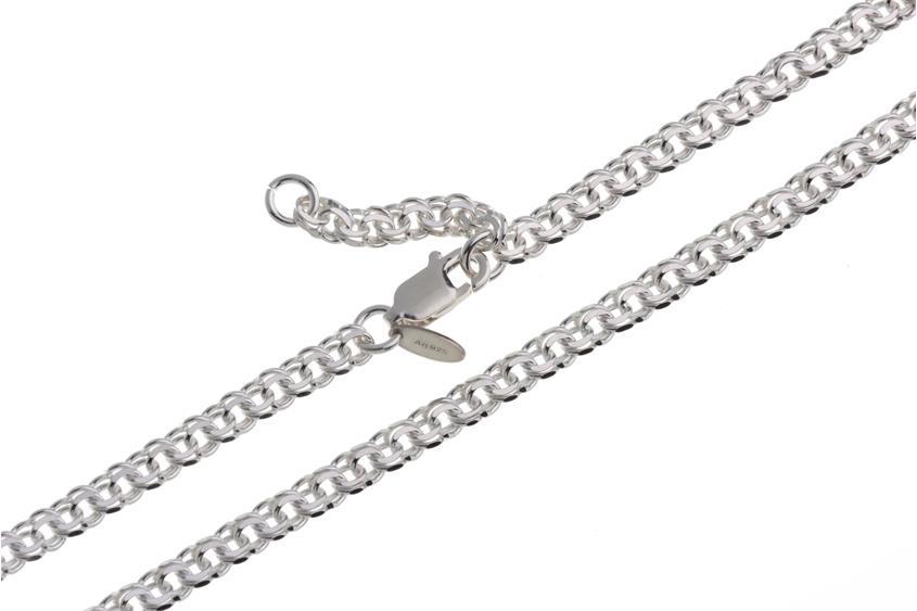 Fußkette Garibaldi 3,6mm - 925 Silber