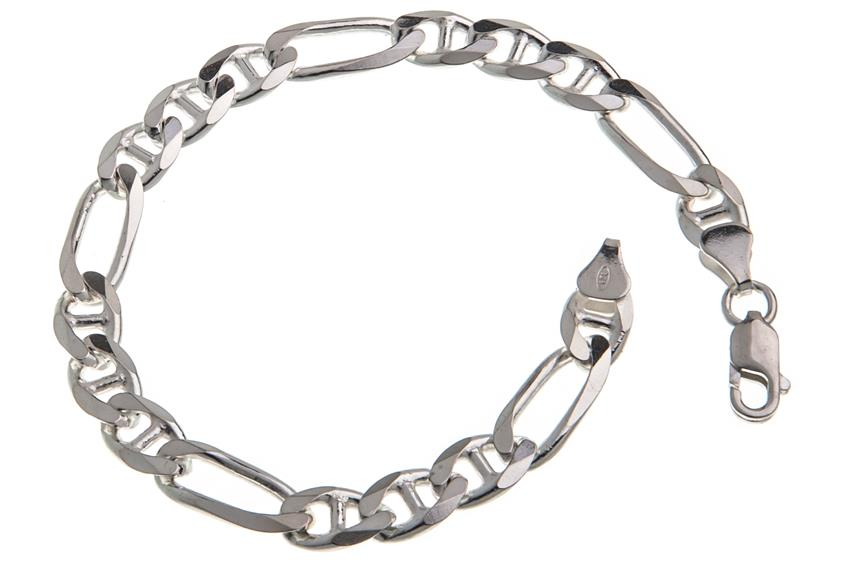 Figaruccikette Armband 7,5mm - 925 Silber