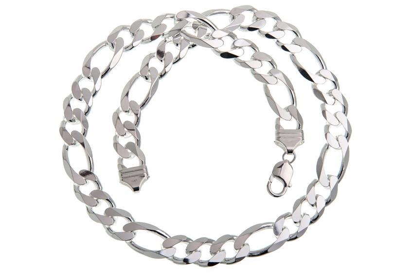 Figarokette 13mm - 925 Silber