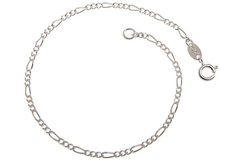 Figarokette Armband 2,2mm - 925 Silber