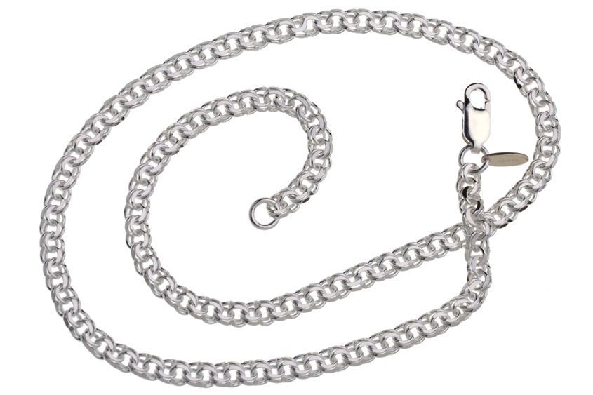 Kinder-Garibaldikette 3,6mm - 925 Silber