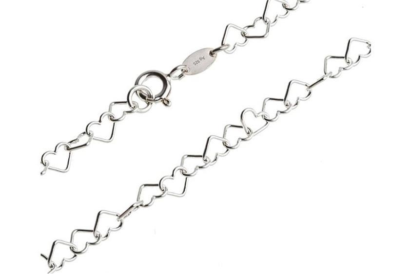 Fashion Line Armband Herzen - 925 Silber