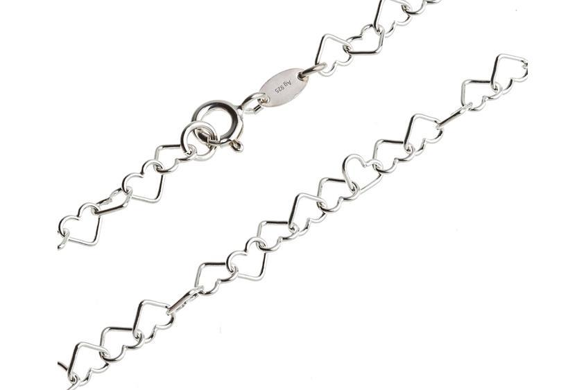 Fashion Line Kette Herzen - 925 Silber