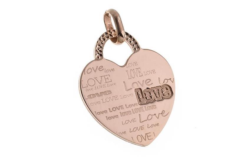 """Anhänger Herz """"Love"""" klein - rosé vergoldet"""
