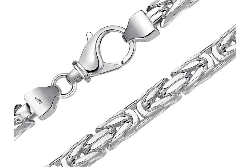 Königskette 8mm - 925 Silber
