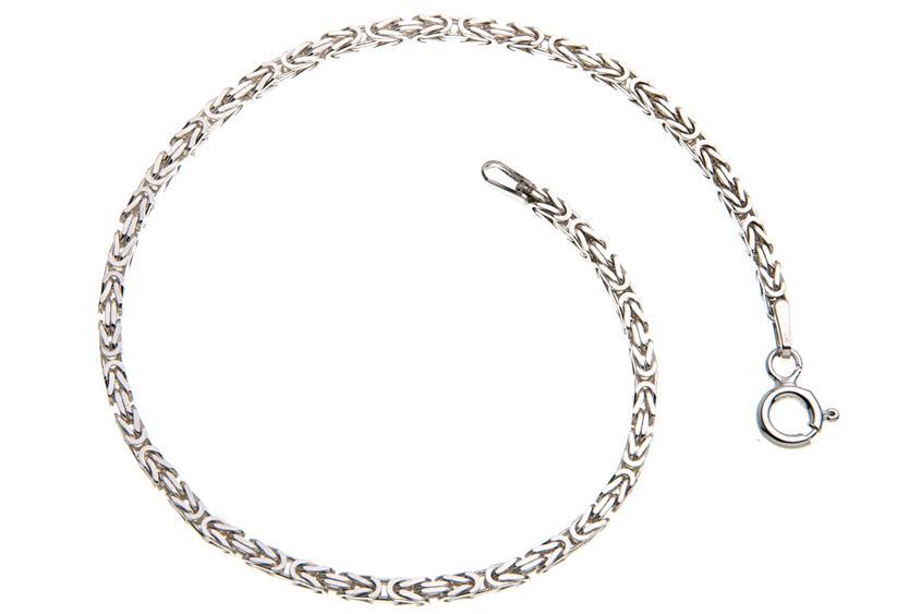 Königskette Armband 2mm - 925 Silber