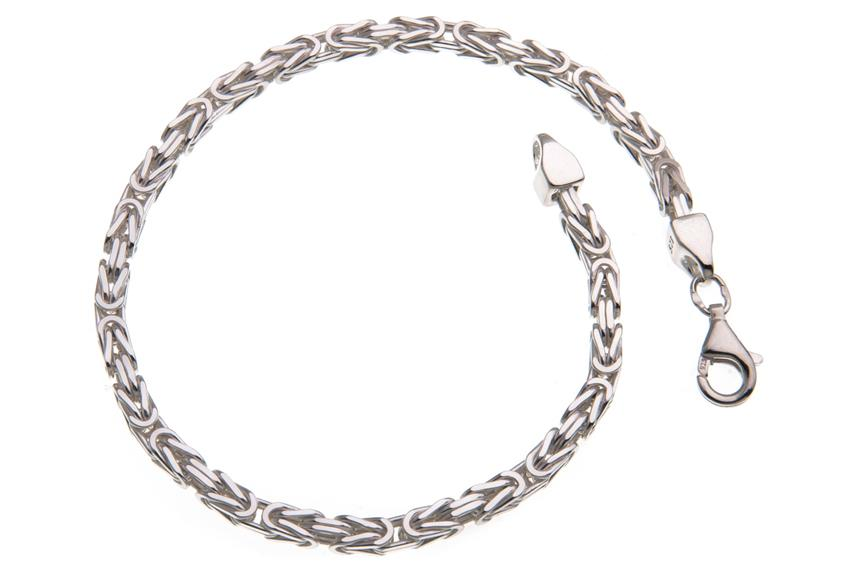 Königskette Armband 3mm - 925 Silber