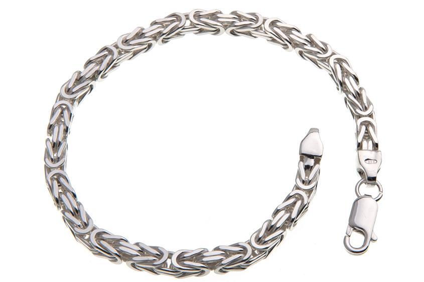 Königskette Armband 4,5mm - 925 Silber