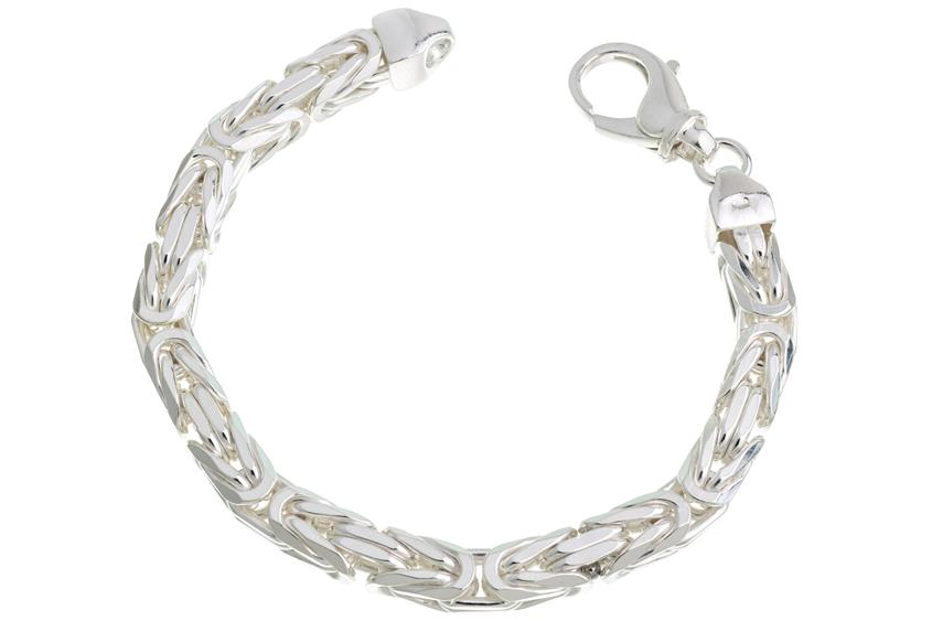 Königskette Armband 8mm - 925 Silber