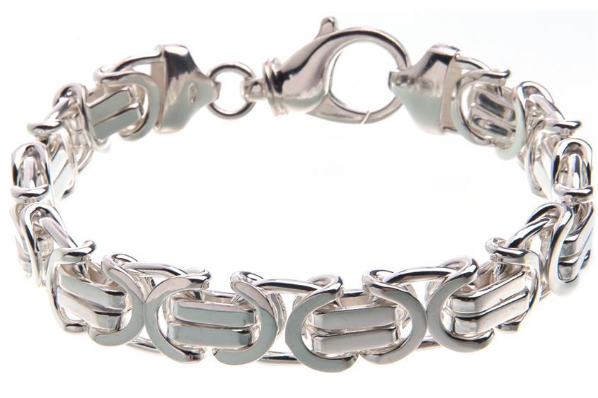 Königskette Armband, flach 11mm