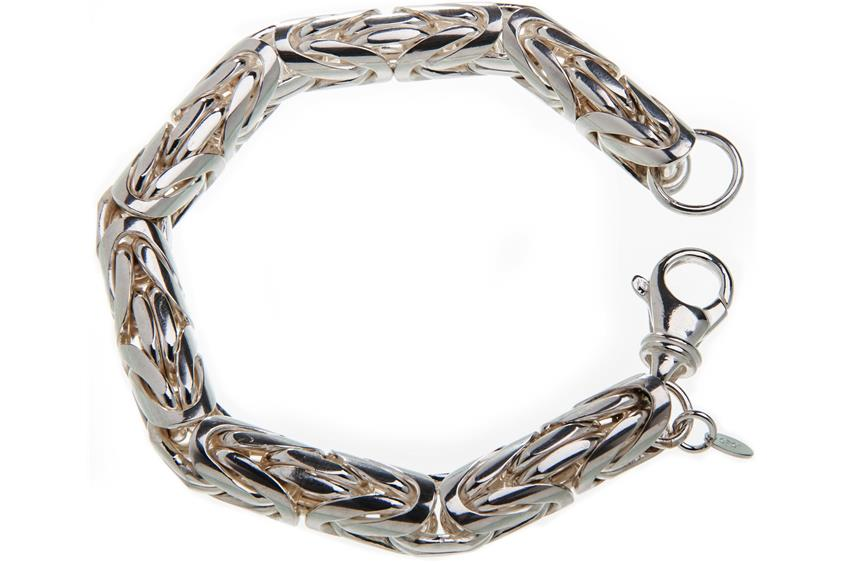 Königskette Armband, rund 10mm - 925 Silber