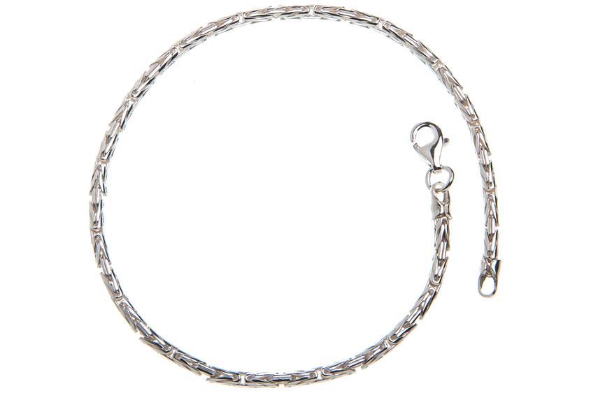 Königskette Armband, rund 2,3mm - 925 Silber