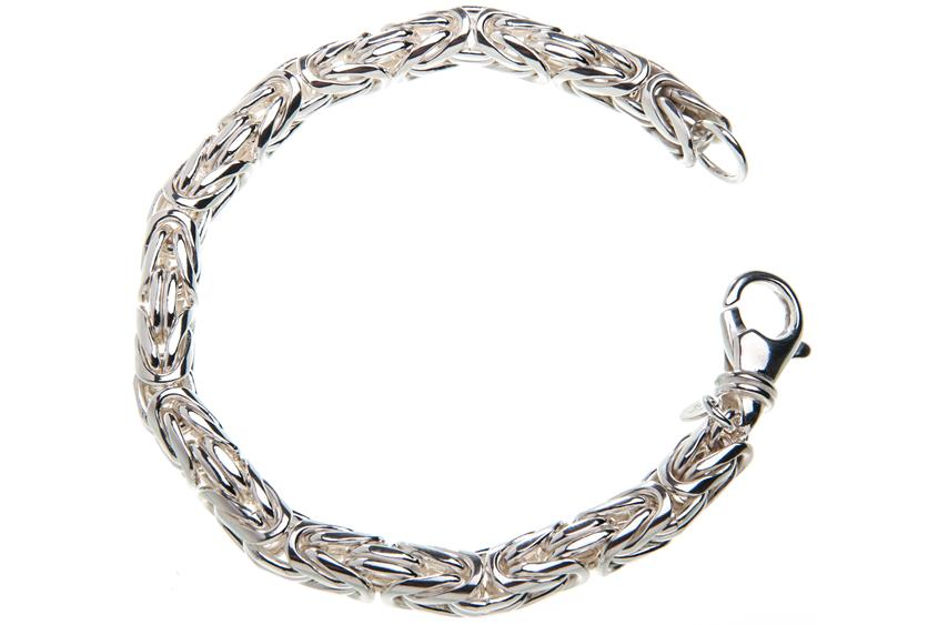Königskette Armband, rund 8mm - 925 Silber