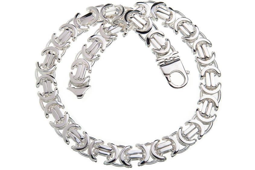 Königskette, flach 17mm - 925 Silber