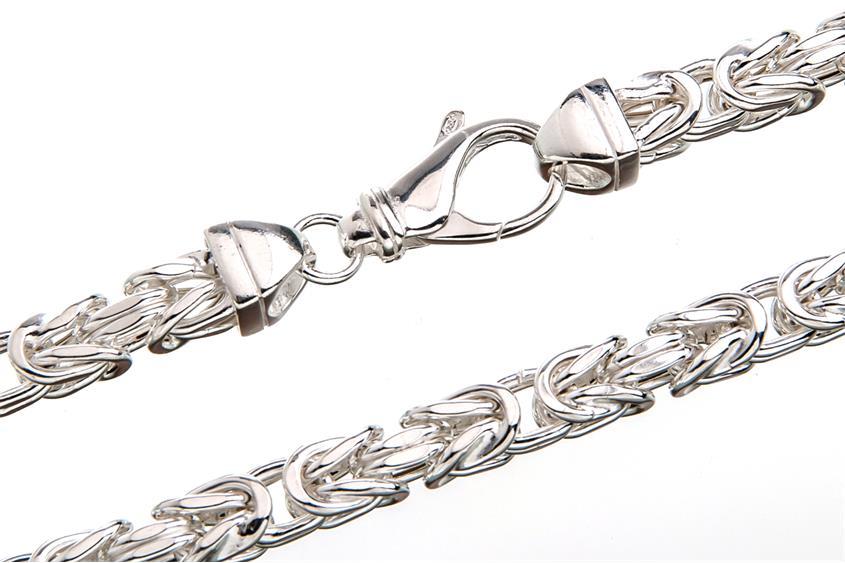 Königskette 8x8mm, halbmassiv - 925 Silber