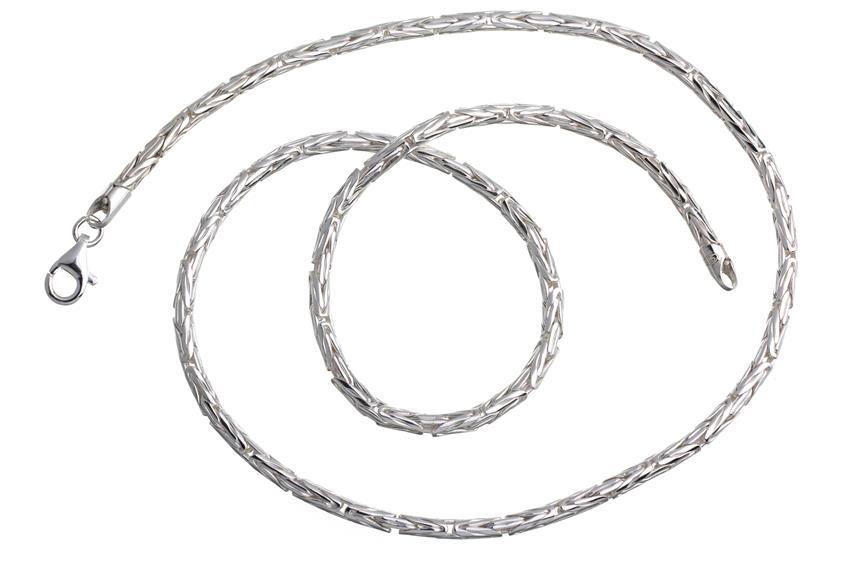 Königskette, rund 3mm - 925 Silber