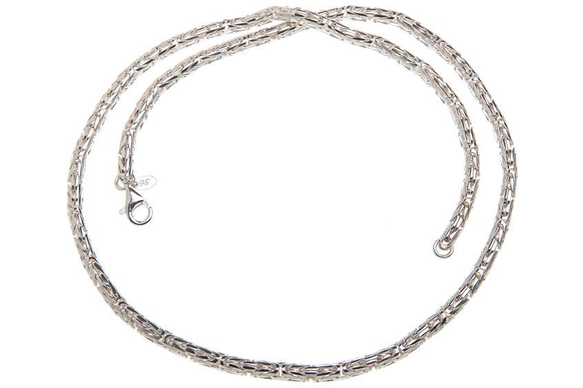 Königskette, rund 4mm - 925 Silber