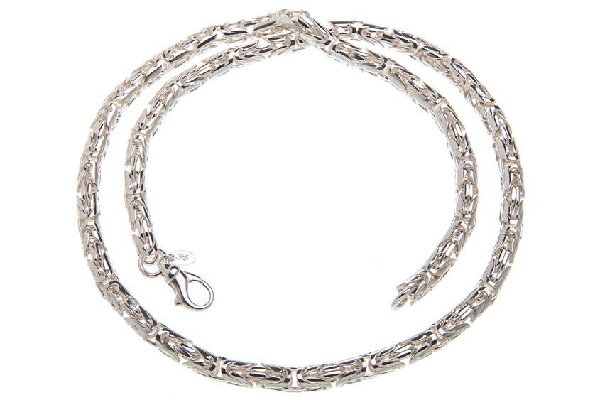 Königskette, rund 6mm - 925 Silber