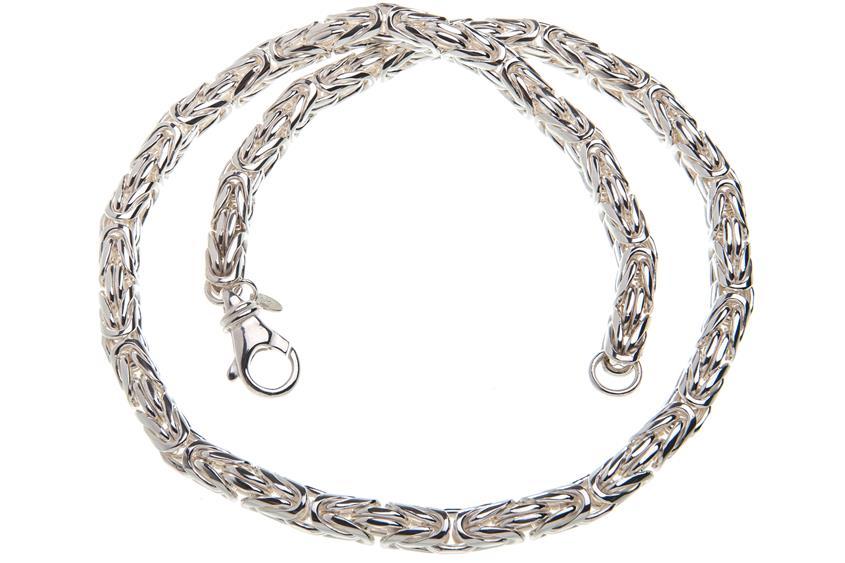 Königskette, rund 8mm - 925 Silber