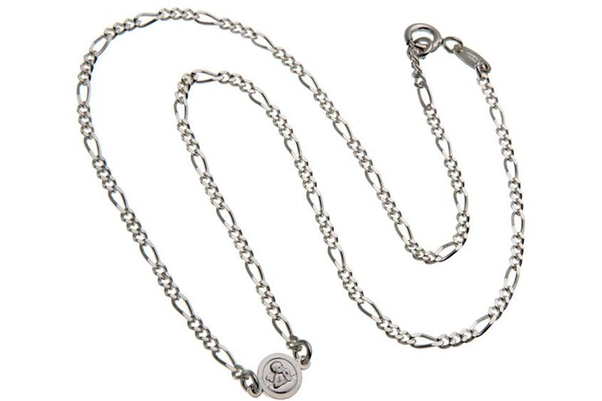 Kinder-Figarokette 2,2mm Engel rund - 925 Silber