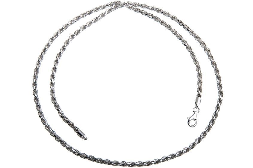 Kordelkette 3mm - 925 Silber