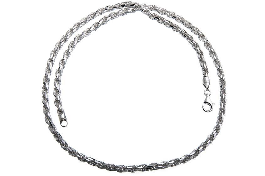 Kordelkette 4,5mm - 925 Silber
