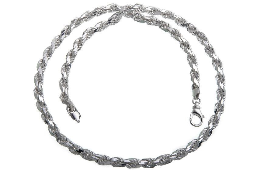 Kordelkette 6,5mm - 925 Silber