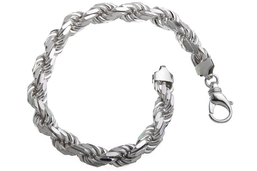 Kordelkette Armband 8mm - 925 Silber