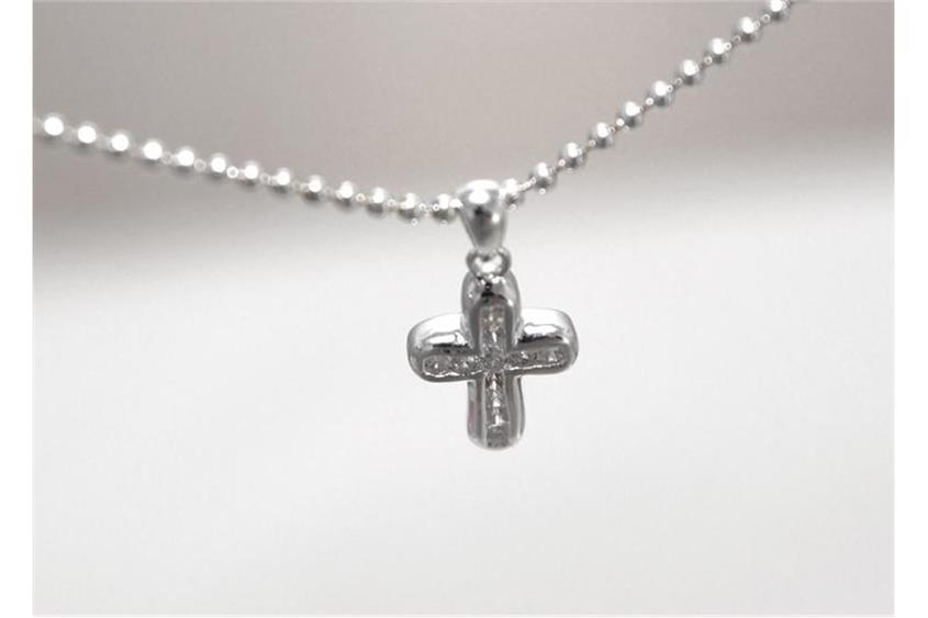Anhänger Kreuz Zirkonia - 925 Silber