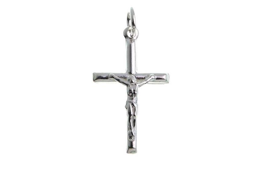 Anhänger Kreuz mit Jesus - 925 Silber