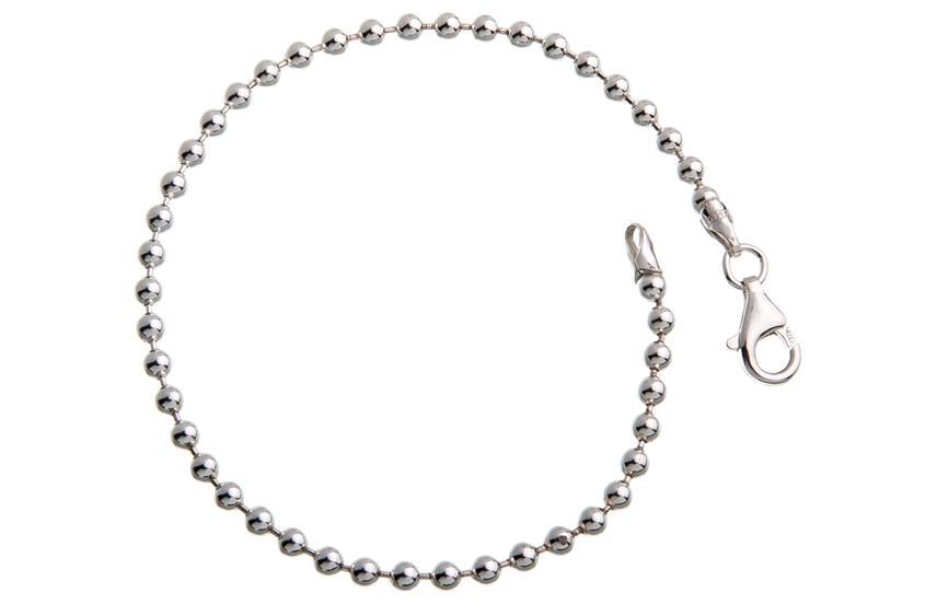 Kugelkette Armband 3mm - 925 Silber