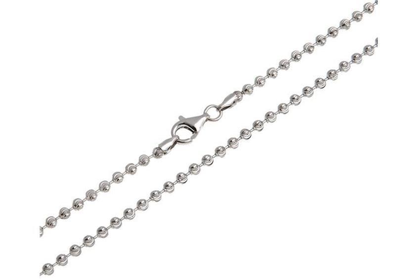 Kugelkette, geschliffen 3mm - 925 Silber