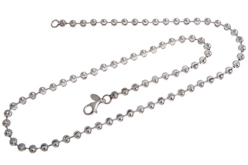 Kugelkette, geschliffen 5mm - 925 Silber