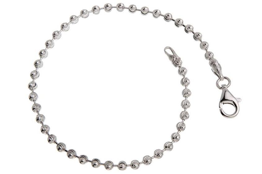 Kugelkette Armband, geschliffen 3mm