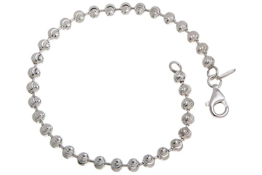Kugelkette Armband, geschliffen 4mm