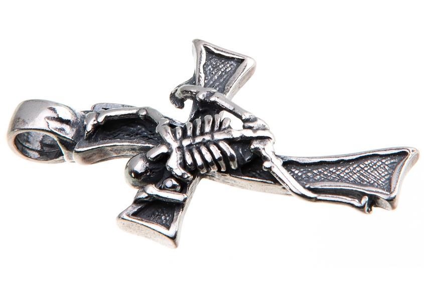 Anhängerkreuz Skelett - 925 Silber LU223_1
