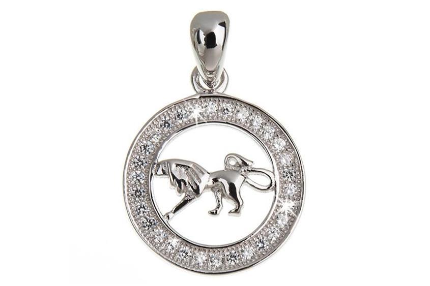 Anhänger Sternzeichen Löwe - 925 Silber