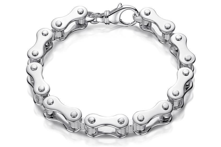 Motorradkette-Armband 11mm - 925 Silber
