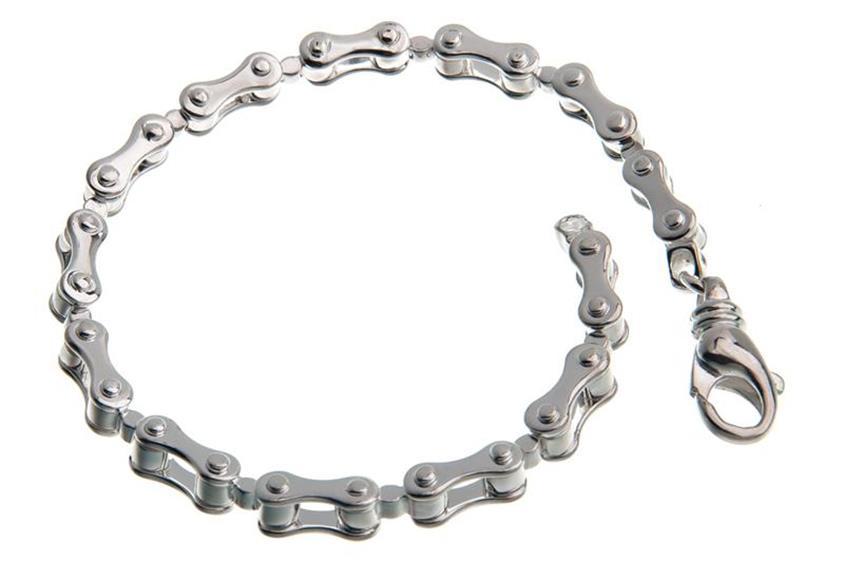 Motorradkette-Armband 6mm - 925er Silber
