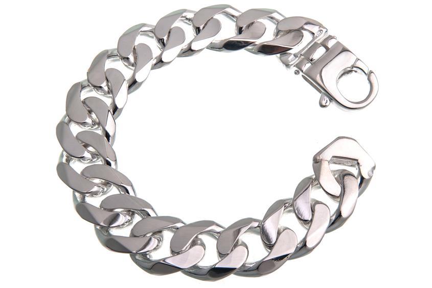 Panzerkette Armband 19mm - 925 Silber