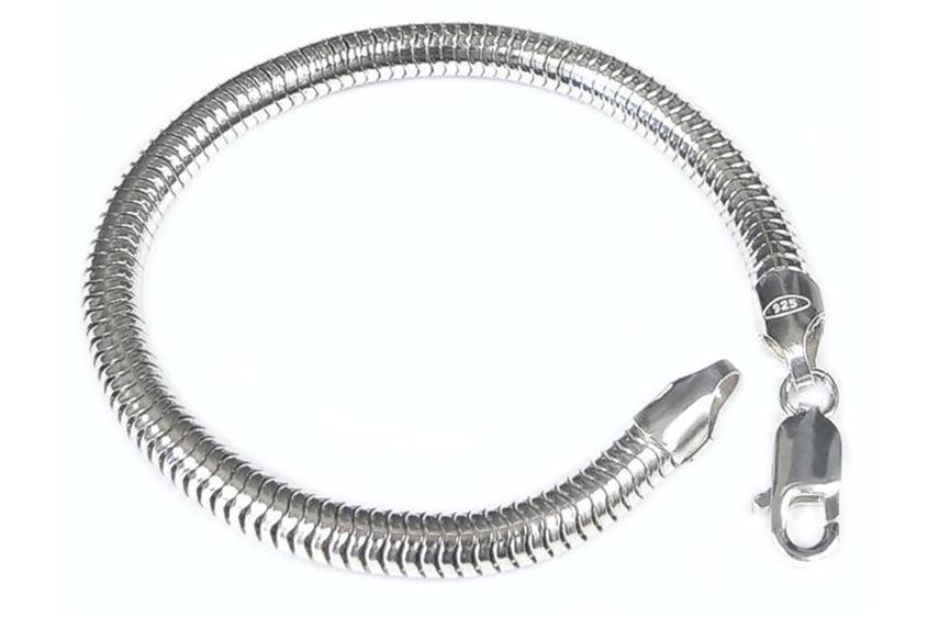 Schlangenkette Armband 6mm - 925 Silber