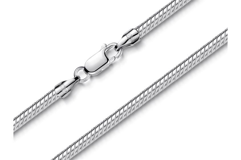 Schlangenkette 3mm - 925 Silber