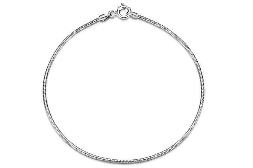 Schlangenkette Armband 1,4mm - 925 Silber