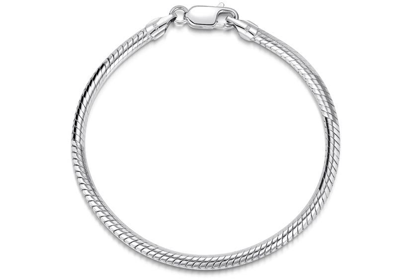 Schlangenkette Armband 3,5mm - 925 Silber