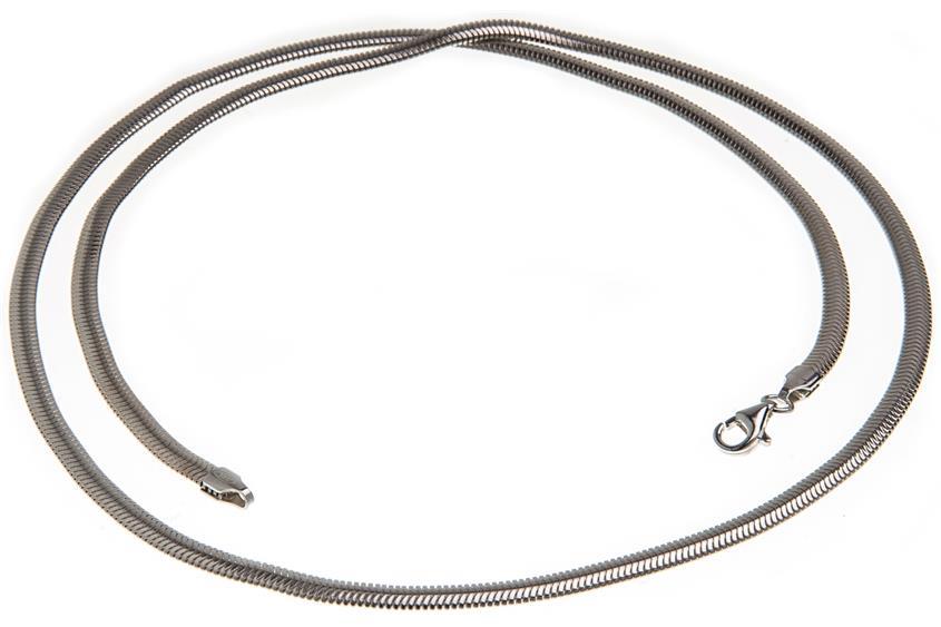 Schlangenkette, oval 3,5mm - 925 Silber