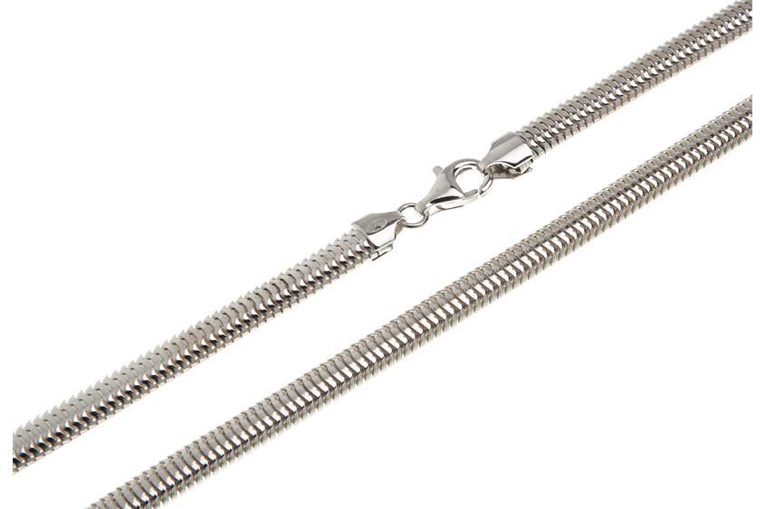 Schlangenkette, oval 6mm - 925 Silber