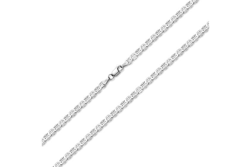 Stegpanzerkette 4mm - 925 Silber