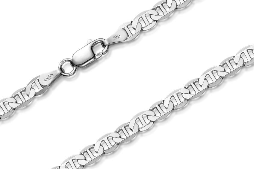 Stegpanzerkette Armband 4mm - 925 Silber