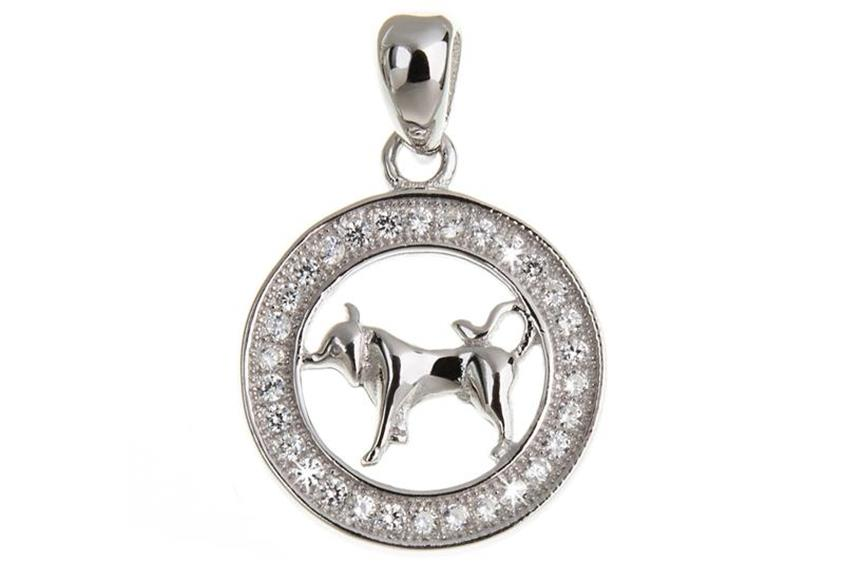 Anhänger Sternzeichen Stier - 925 Silber
