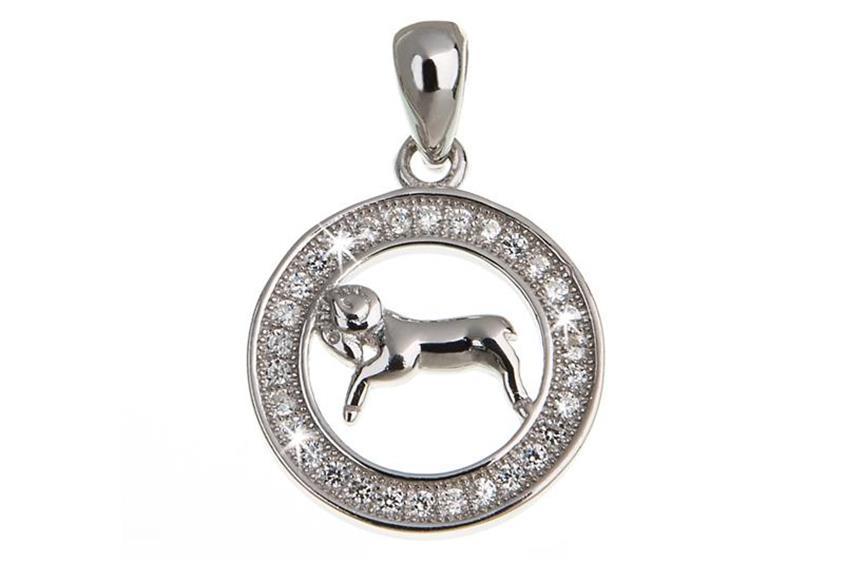 Anhänger Sternzeichen Widder - 925 Silber